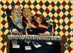 Who's Glamouring Who by Todd White - Hand Finished Limited Edition on Canvas sized 40x29 inches. Available from Whitewall Galleries